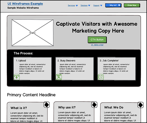 Wireframe Examples Ui Wireframes Portfolio Samples